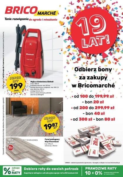 17cabb324cf2b6 Tuba Wyszkowa - Okazje - Bony na 19. urodziny Brico Marche!